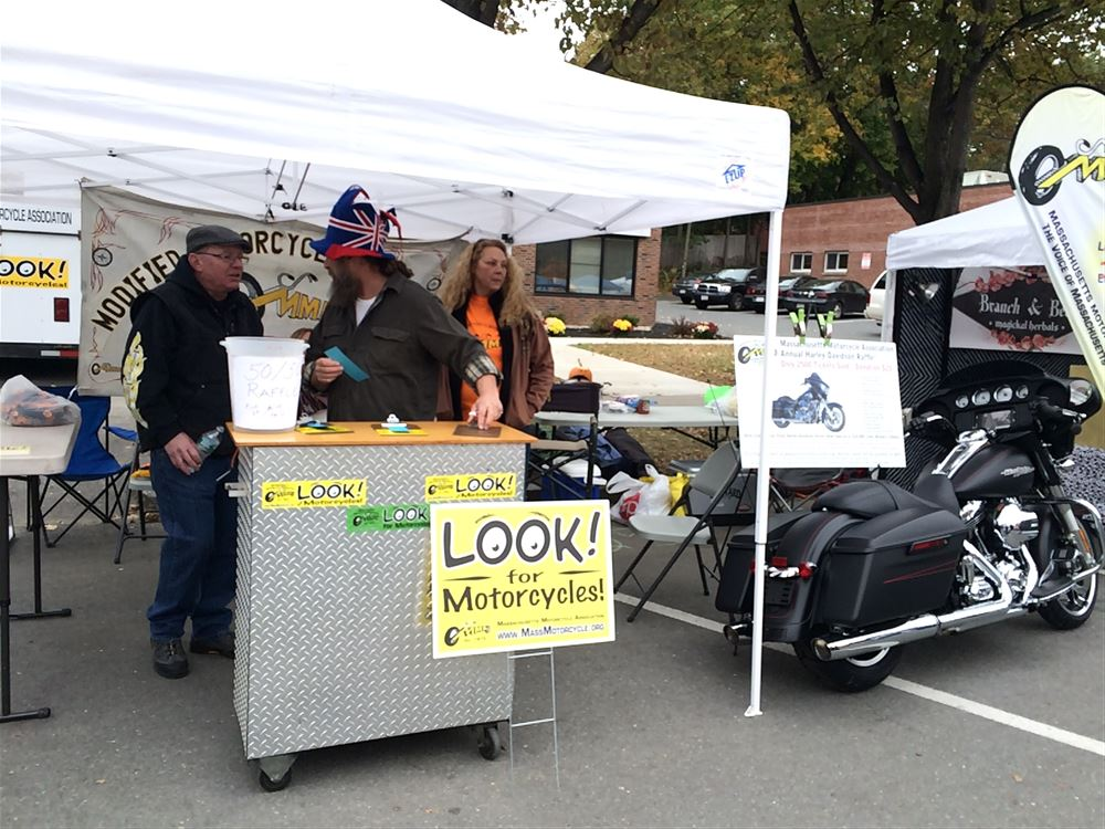 MMA District IV and State Officers manning a booth at the Franklin County Pumpkinfest in Turners Falls, 2015