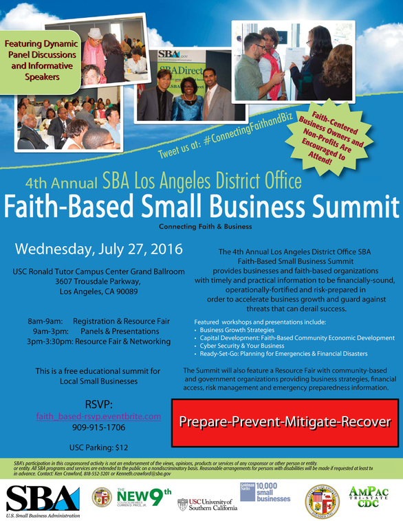 Faith Based Small Business Summit SBA