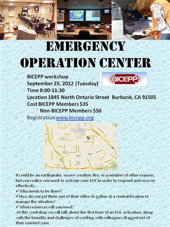 EOC Workshop Hosted by Burbank EOC