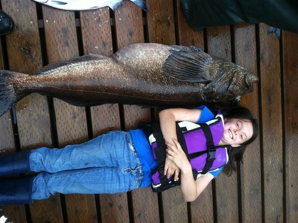 72 Pound Ling Cod caught by Vic out of Elfin Cove