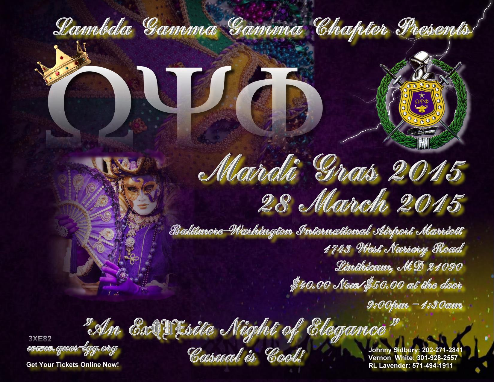 Mardi Gras 2015 Click here for details!