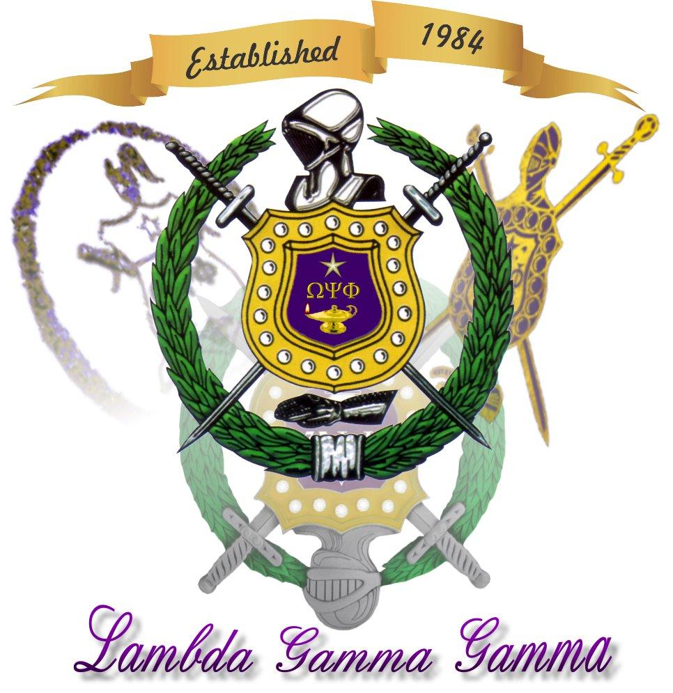 History Fraternity Lambda Gamma Gamma Chapter Omega Psi Phi