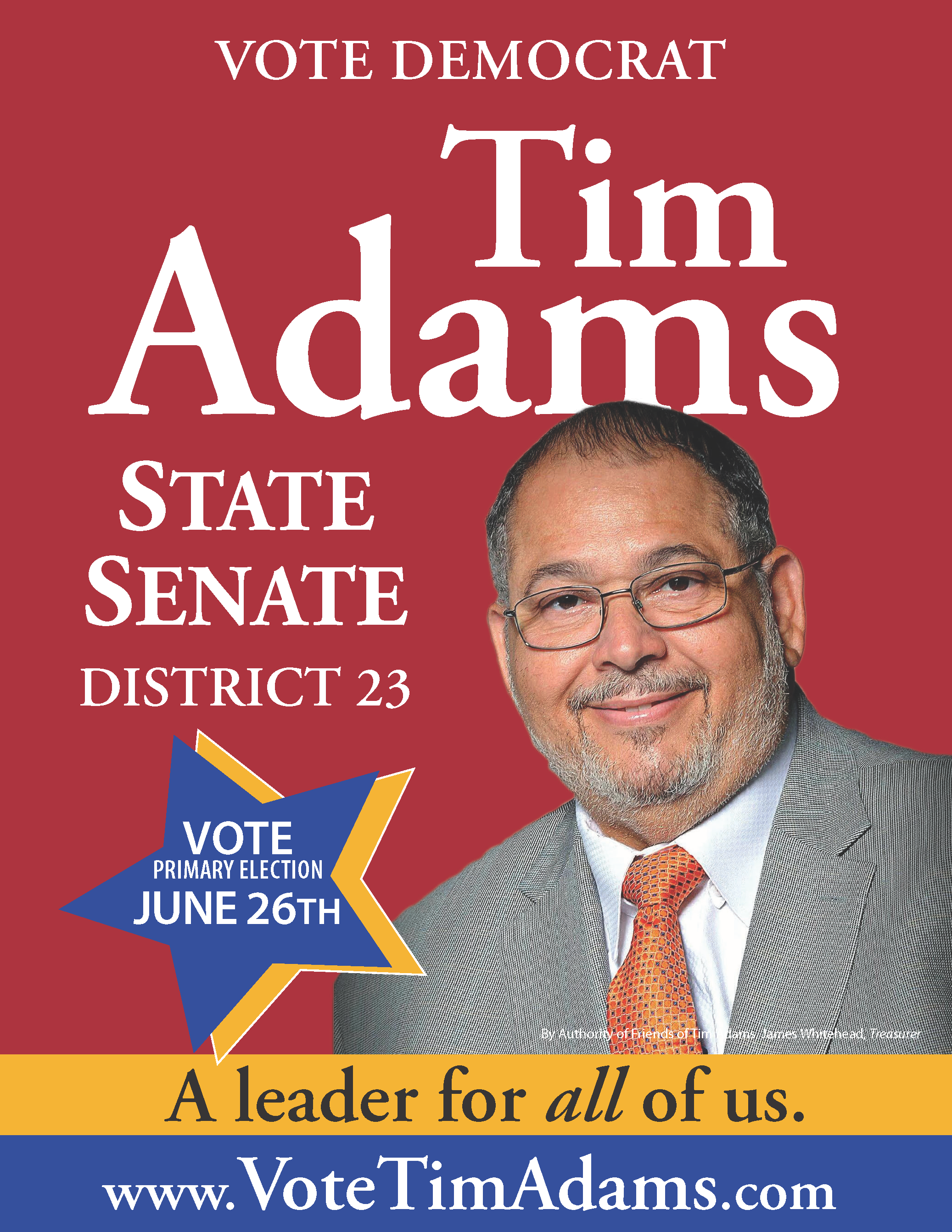 Elect Tim Adams - District 23 (PG County)