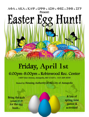 Anne Arundel National Pan-Hellenic Easter Egg Hunt 2016