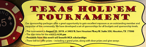 Register for our Aug 22 2019 Texas Hold Em Tournament