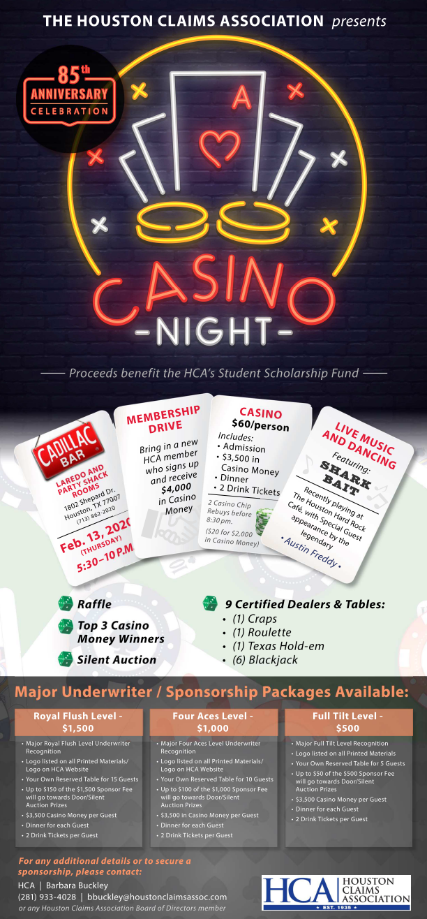 HCA 2020 Casino Night - Feb 13
