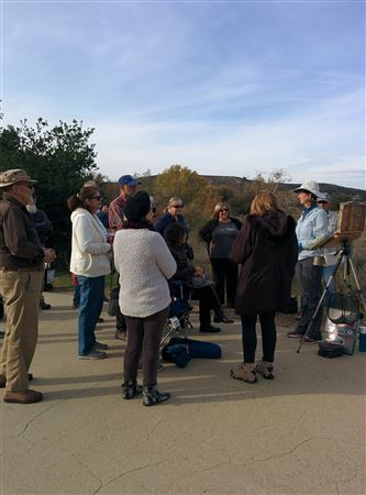 An inspiring demo in Irvine Regional Park given by our talented and award-winning member, Kim VanDerHoek. Thank you so much - we all learned a lot.