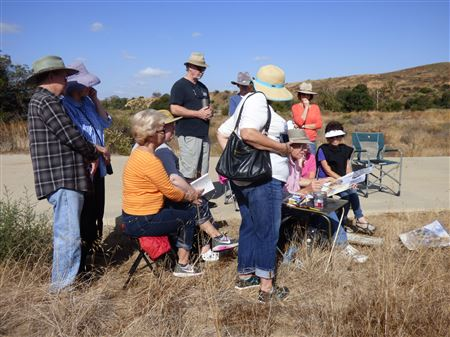 A wonderful informative morning in Irvine Regional Park - all about watercolors