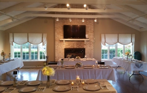 Club house wedding