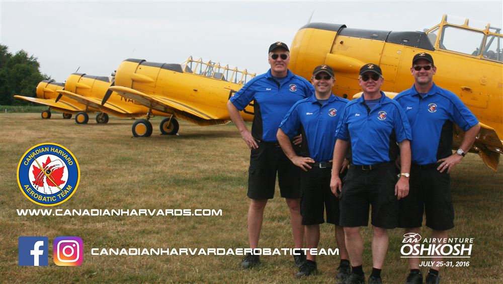 The Canadian Harvard Aerobatic Team