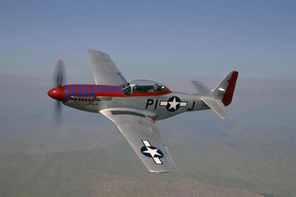 Although All Red Star is an RPA event, there were two T-6s and a p-51 in attendance.