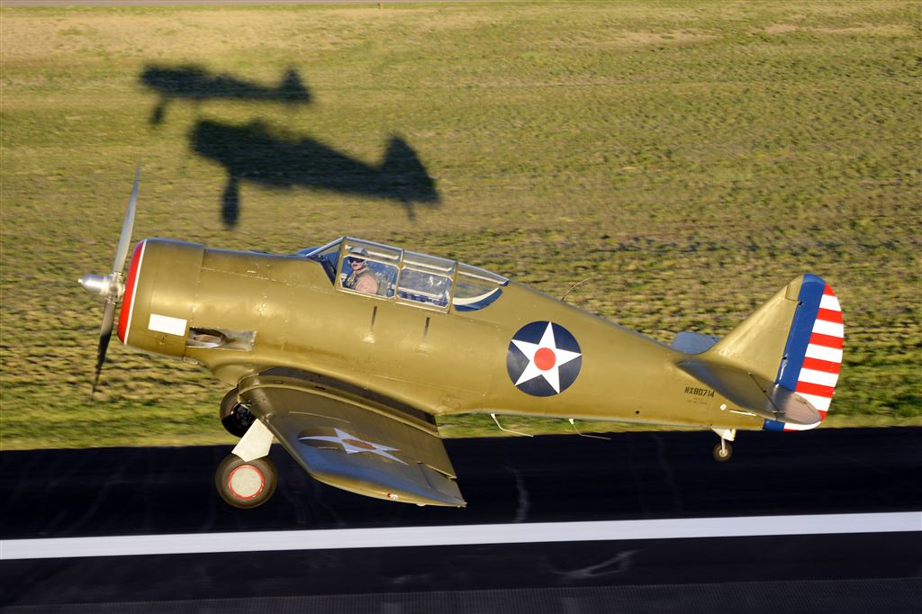 JP Thibodeau owns a unique bird, a replica of a North American NA-50. It is built from pieces of modified T-6 and SNJ parts.