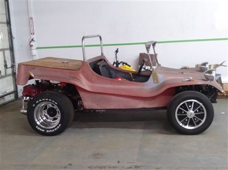 1968 Sandpiper T Buggy Body , on a 1974 Pan , 1975 Porsche  2.0 Ltr Engine . Pan shortened 14 inches ,  Disk Brakes in front , Drum rears , Trans is out of a 1973 Super Beetle ,