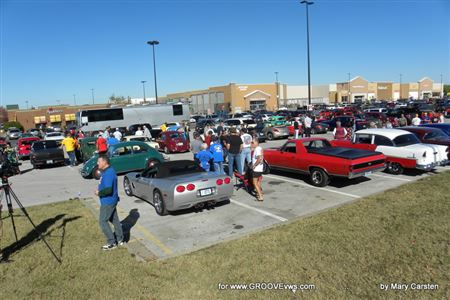 Toys for local kids.  Area car clubs and car enthusiasts join us.