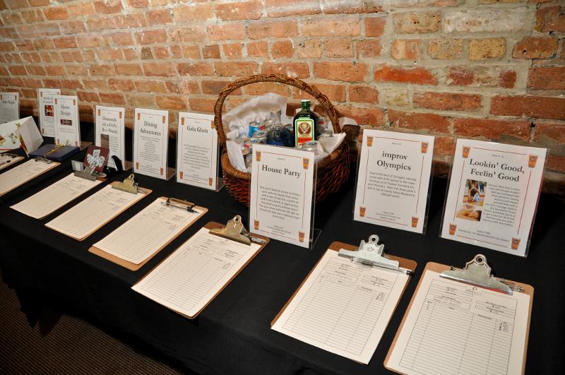 Silent Auction clipboards