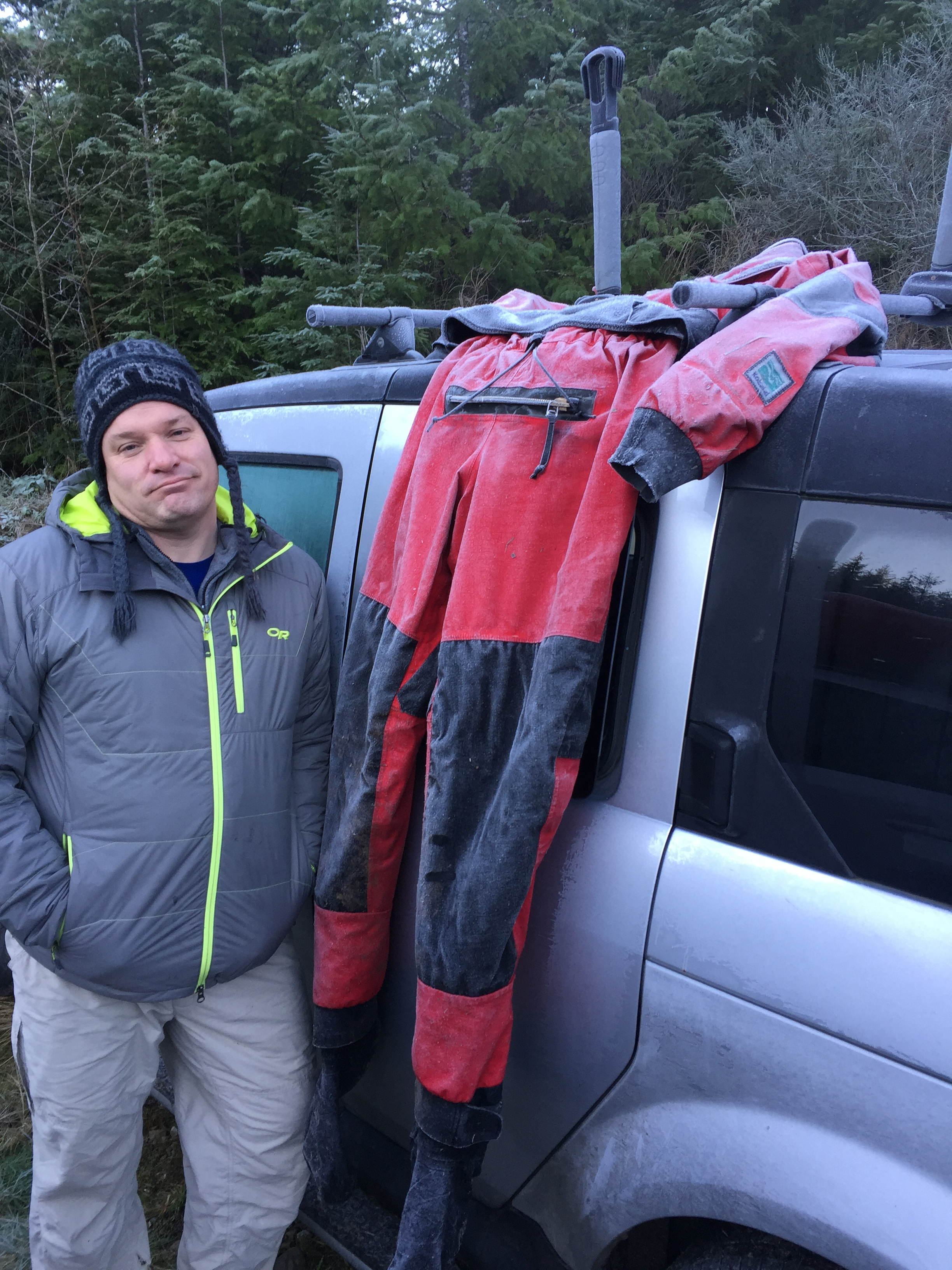 Matheny frozen drysuit