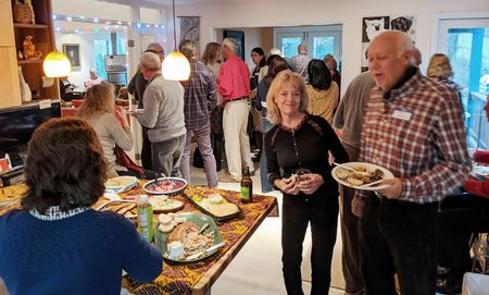 Annual holiday party, this year at Michel and Sara's-big crowd, plentiful food and some new members in attendance!