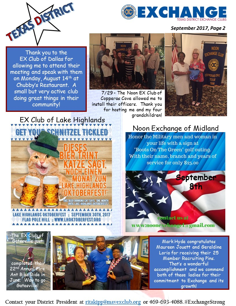 Pres Newsletter 9-2017 Pg 2