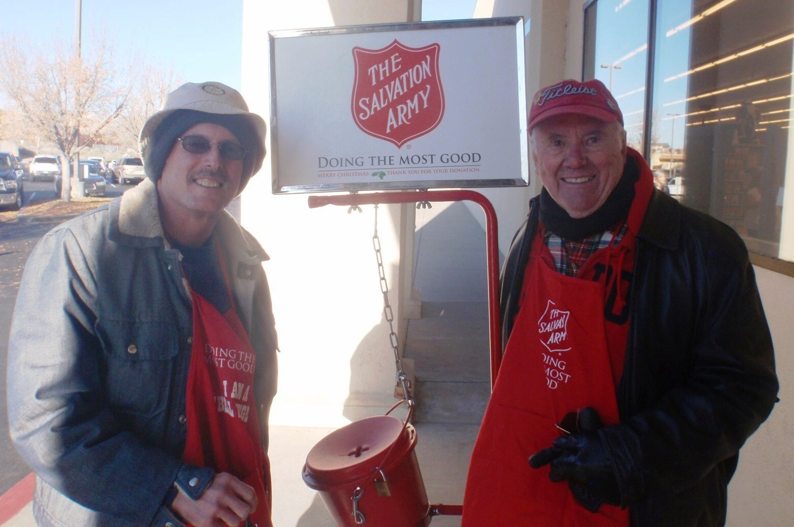 Ringing the Bell for the Salvation Army