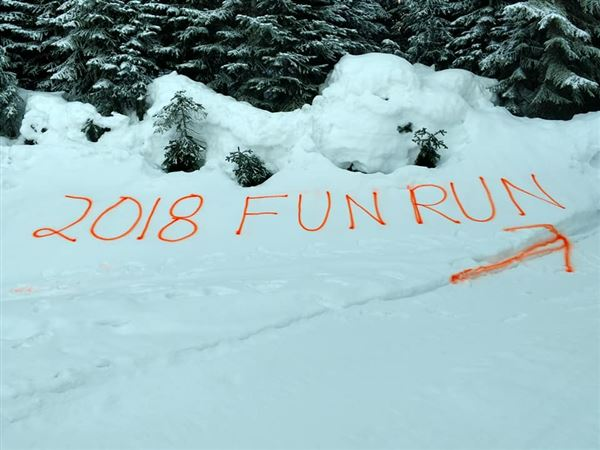 2018 Fun Run at Government Meadows cabin near Greenwater