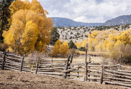 fall colors, walls, snow covered peaks, red mountain