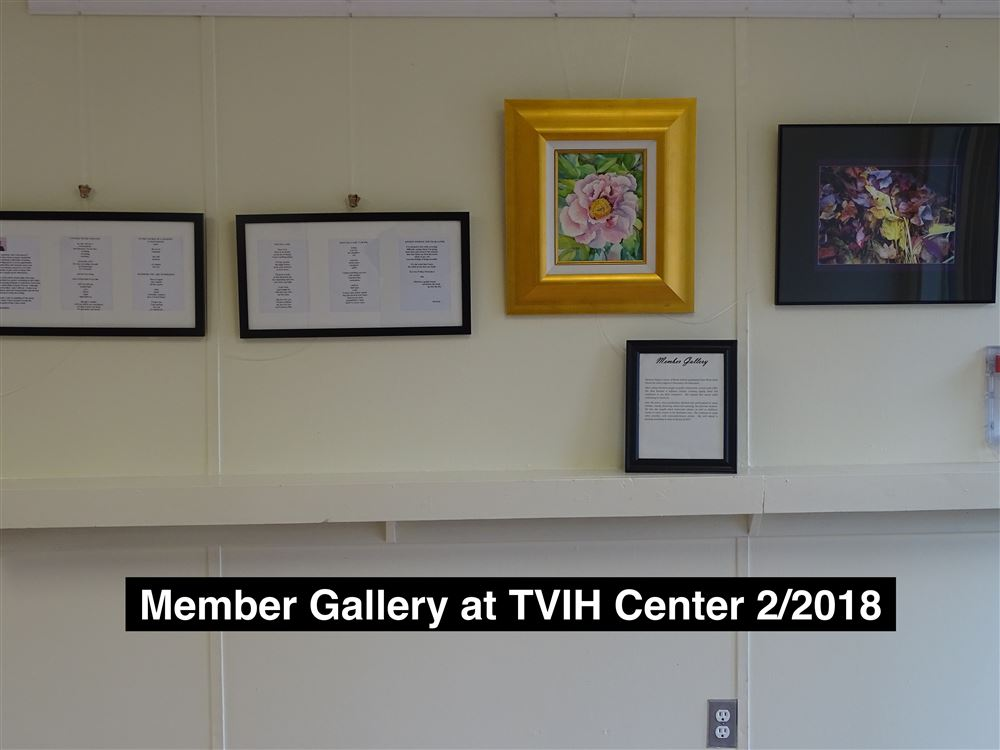 members' art works on display at the office