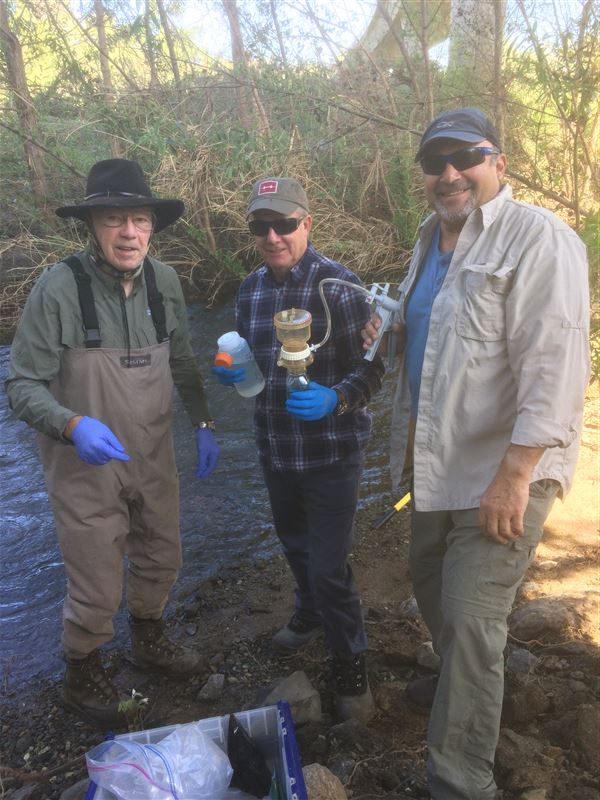 Water sampling work done on the San Luis Rey River