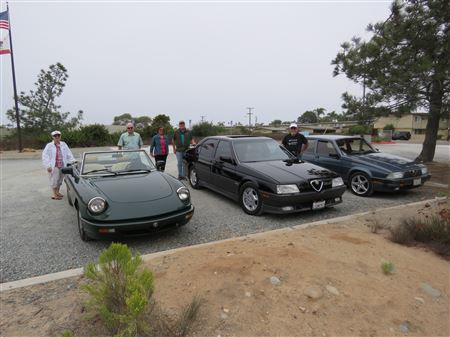 We met for cars and coffee at the Influx Cafe in Little Italy and then drove down the strand on Coronado Island.  We had lunch at the Galley in the Chula Vista Marina.