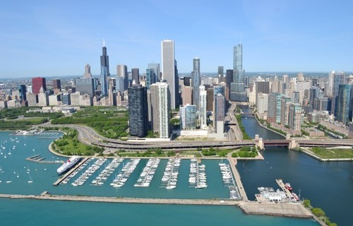 Dusable Harbor Aerial