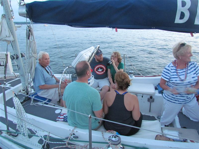 Social Sail to watch the Independence Day fireworks off of  Solomons Island, Maryland