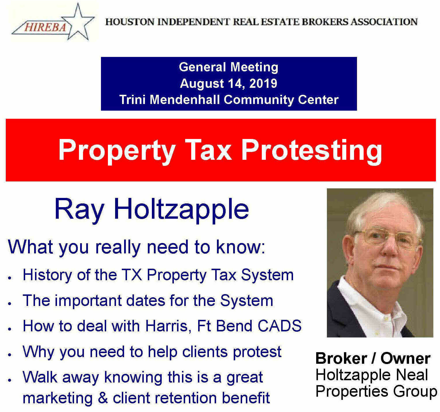 Ray Holtzapple - Aug 14, 2019