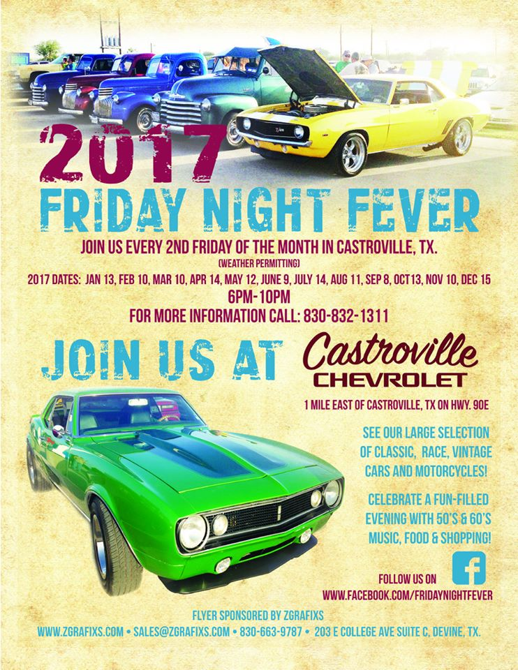 Friday Night Fever At Castroville Chevrolet Events San Antonio - Castroville chevrolet car show