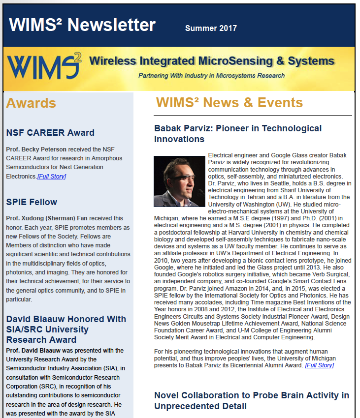 MEMS and Microsystems Newsletter