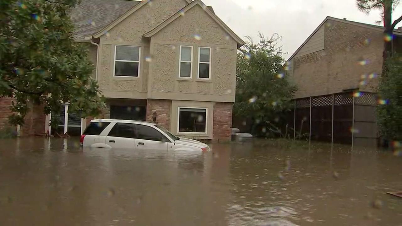 ABC13 News photo of flooded Houston neighborhood