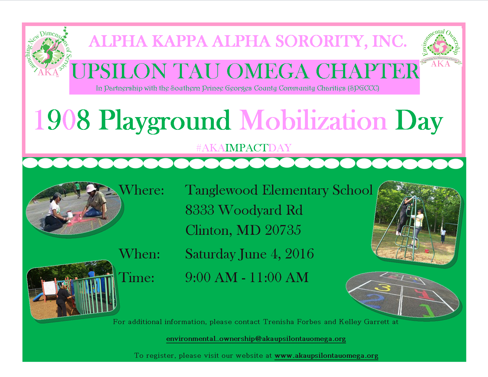 1908 Playground Mobilization - Rescheduled