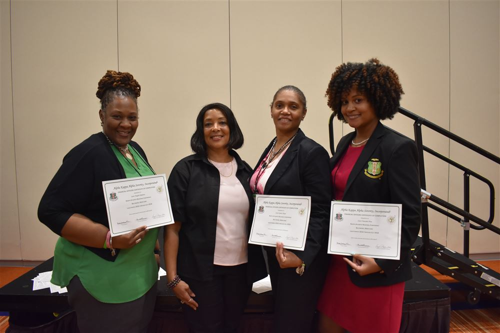 Upsilon Tau Omega Chapter's financial officers attended the Financial Officer Certification (FOC) training, Financial Workshop, and Financial Forum at the 86th North Atlantic Regional Conference.