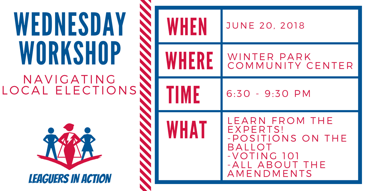 Wednesday Workshop Series: Navigating Local Elections