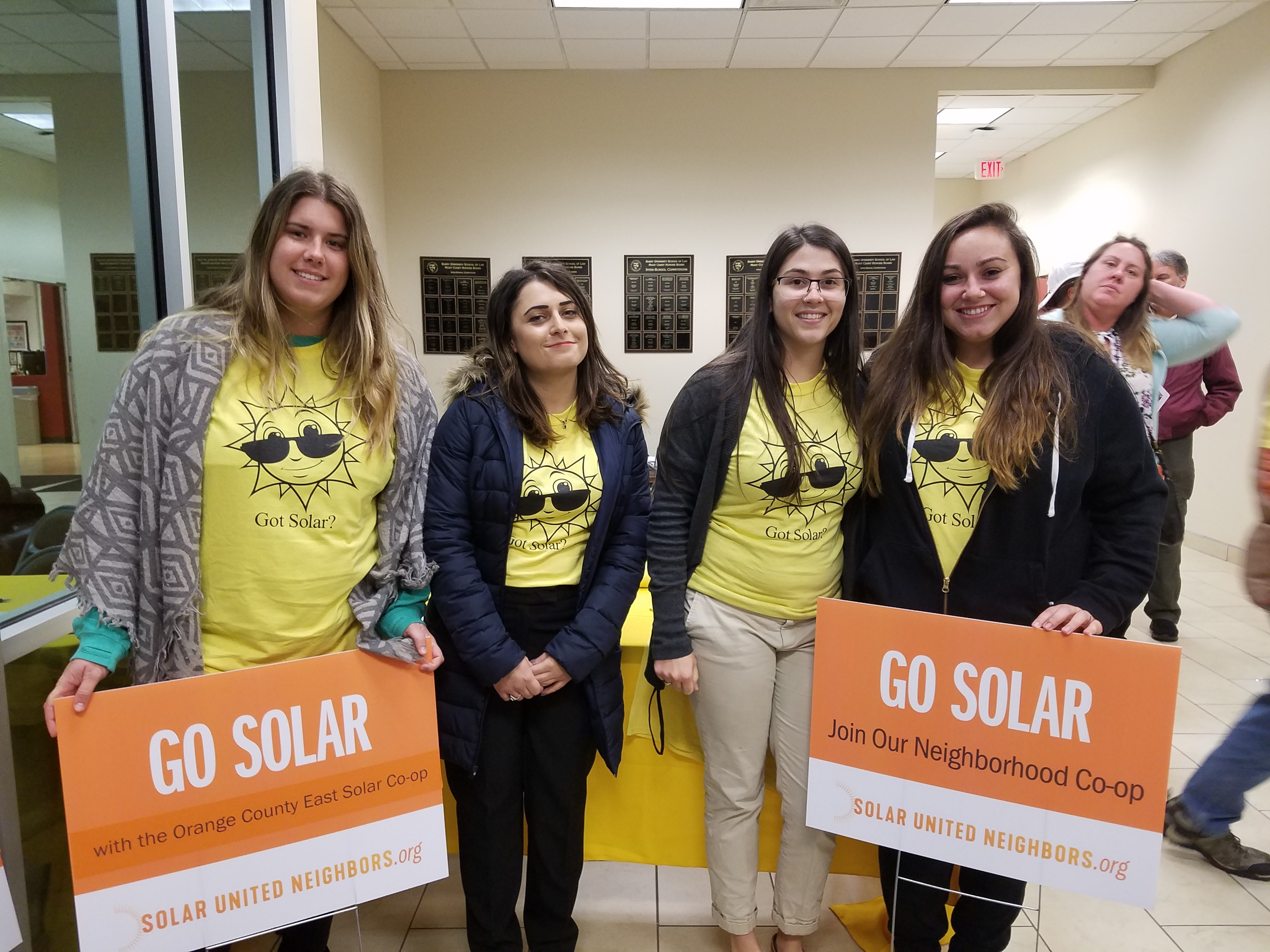 Solar Workshop 1/2018 Volunteers