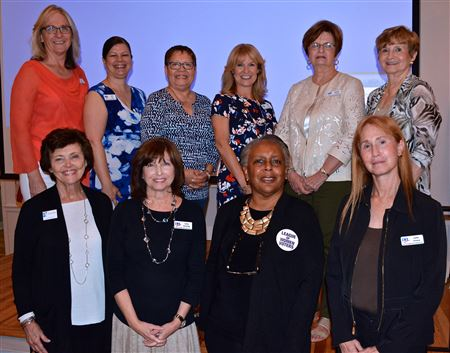 The League of Women Voters held its annual meeting Aug. 20, 2017  and elected news officers and board members. Carol Davis and Leesa Bainbridge are new co-chairs. (Photos by Carol Wonsavage)