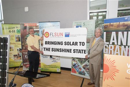 Announcement of LWVOC, FL SUN, and OCG collaboration to bring affordable solar energy to our citizens.