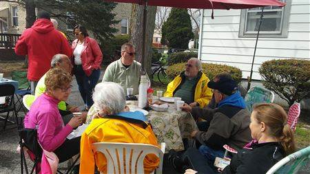 Our April 2017 meeting was a social pancake breakfast hosted by Fern Bienas.