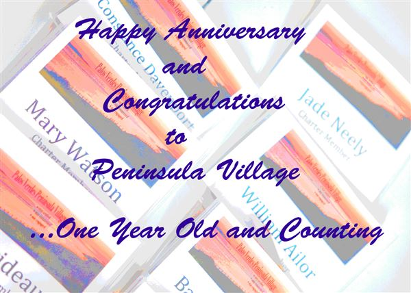 The Peninsula Village celebrated its first anniversary with an entertaining get together and shared memories.