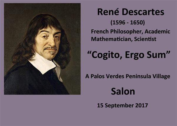 Members get together at a Salon to discuss the ideas of Rene Descartes and other philosophers.