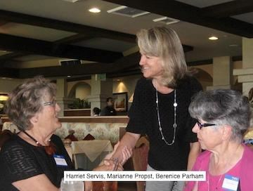Guests at the August luncheon got to meet the new Village Executive Director Marianne Propst.