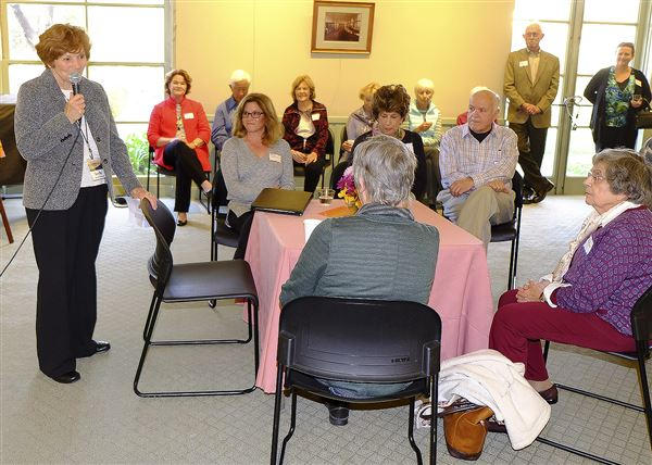 Village members gathered to welcome new Village Executive Director Colleen Cotter