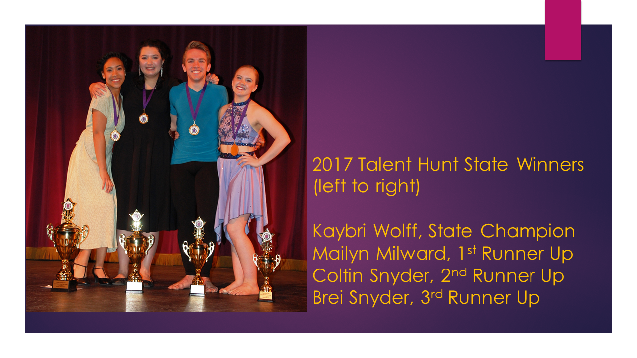 2017 Talent Hunt State Winners