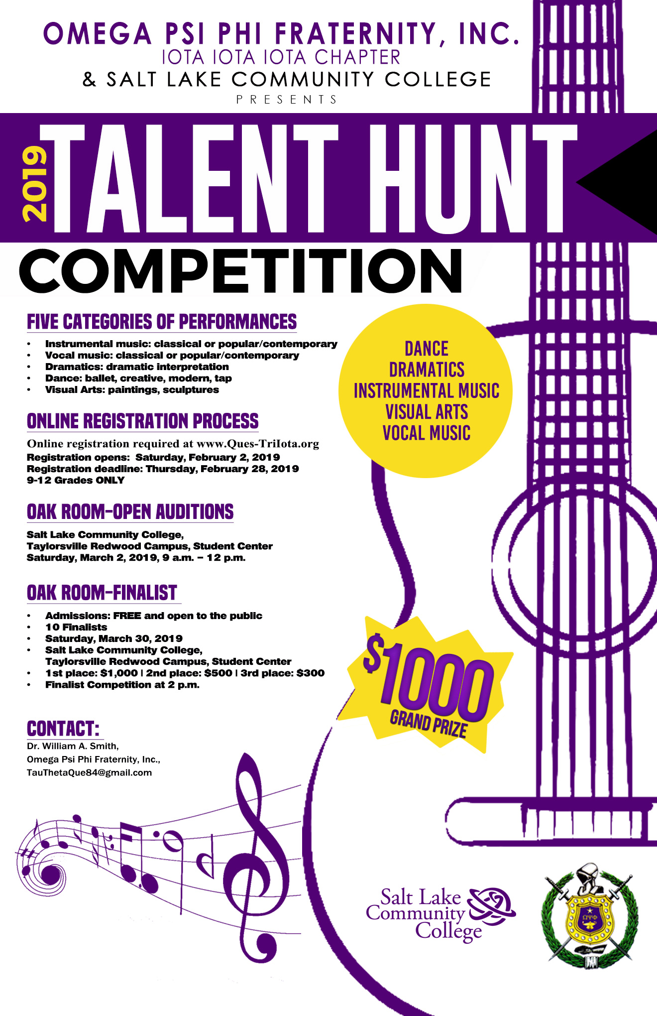 Talent Hunt flyer 2019