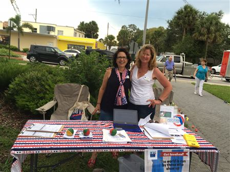 June 2017 - Table at Pulse Candlelight Vigil, Eau Gallie Square