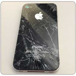Cracked iPhone 4S back