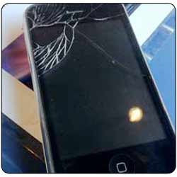 Cracked iPhone 3gs front